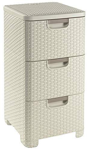 Amplíe las posibilidades de almacenamiento en su hogar con la Cajonera Style de 3 Cajones Curver. Se trata de un pequeño mueble muy discreto, fácil de colocar en cualquier rincón y que presenta un moderno diseño. Dentro de sus 3 cajones podrá distrib...