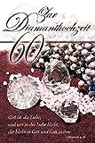 Yabue Diamanthochzeit 60 Jahre Foto-Karte Grußkarte Gott Liebe 16x11cm