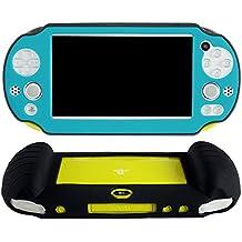 Pandaren® Cubierta de silicona cover mano agarre funda protectora (azul claro) para PS Vita slim PSV 2000