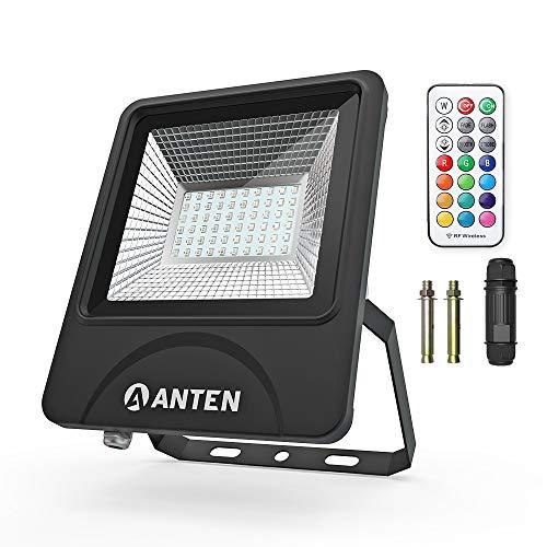 Anten 50W SMD 3030 IP66 RGB Floodlight LED Foco Proyector LED para...
