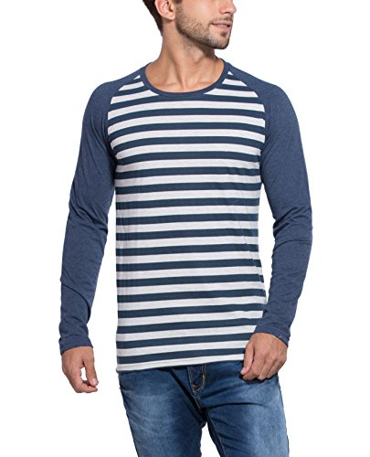 Alan Jones Striped Cotton Full Sleeves T Shirt
