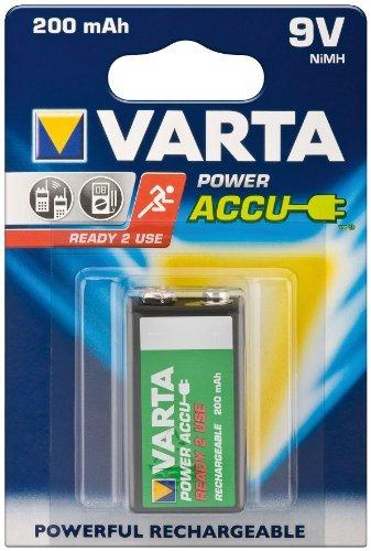 Varta 56722 Pile Ni-Mh rechargeable prête à l'emploi 9 V 200 mAh 3 articles