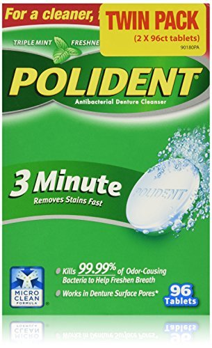 Improved Triple Mint Freshness - Polident Antibacterial