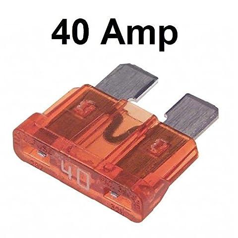 CAR SPARE 10x STANDARD BLADE FUSES 40 AMP VAN CAB MPV