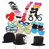 KIMILAR Party Foto Verkleidung Schnurrbart Lippen Brille Krawatte Hüten Photo Booth Props Set Hochzeit Partymitbringsel