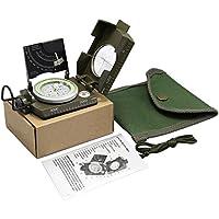 Brújula Militar Profesional de Metal Impermeable y Fluorescente Multifunción con Inclinómetro, Electrónica Rey®