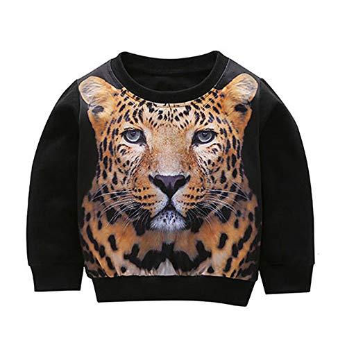 Beikoard Beikoard_Babykleidung 3D Bedruckter Pullover Sportoberteil Mädchen Jungen Tiger-Sweatshirt Baby Kinder Sweatshirt Set