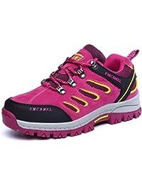 FMCAMEL Chaussures de Randonnée Outdoor Pour Basses Trekking et les Promenades Imperméable Lacées Plates Confortable et Respirant Printemps-eté Automne-Hiver