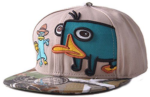 Belsen Kind Schnabeltier Karikatur Hip-Hop Cap Baseball Kappe Hut Truckers Hat, Khaki, Erwachsene - Aus Trucker Hats