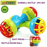 TOY-STATION - DUMBBELL RATTLE [ 2pc set ]