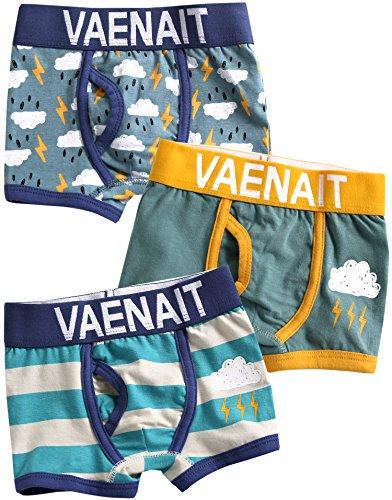 Vaenait baby 86-122 Jungen Unterhosen 3-Packung Set Boxer Thunder L - Baby-jungen-boxer-shorts