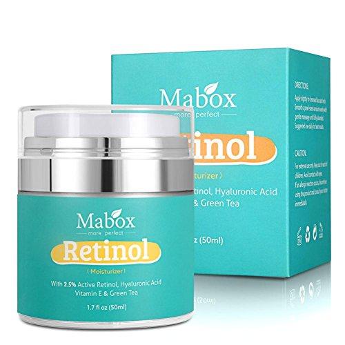 Crema hidratante para rostro con retinol, MABOX Loción Hidratante Blanqueadora Aceite Hidratante Crema Hidratante Suplemento de Ácido Hialurónico con vitamina A, D, E - 50 ml