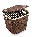 #5: All Time Plastics Rattan Plastic Storage Box, 15 Litres, Brown