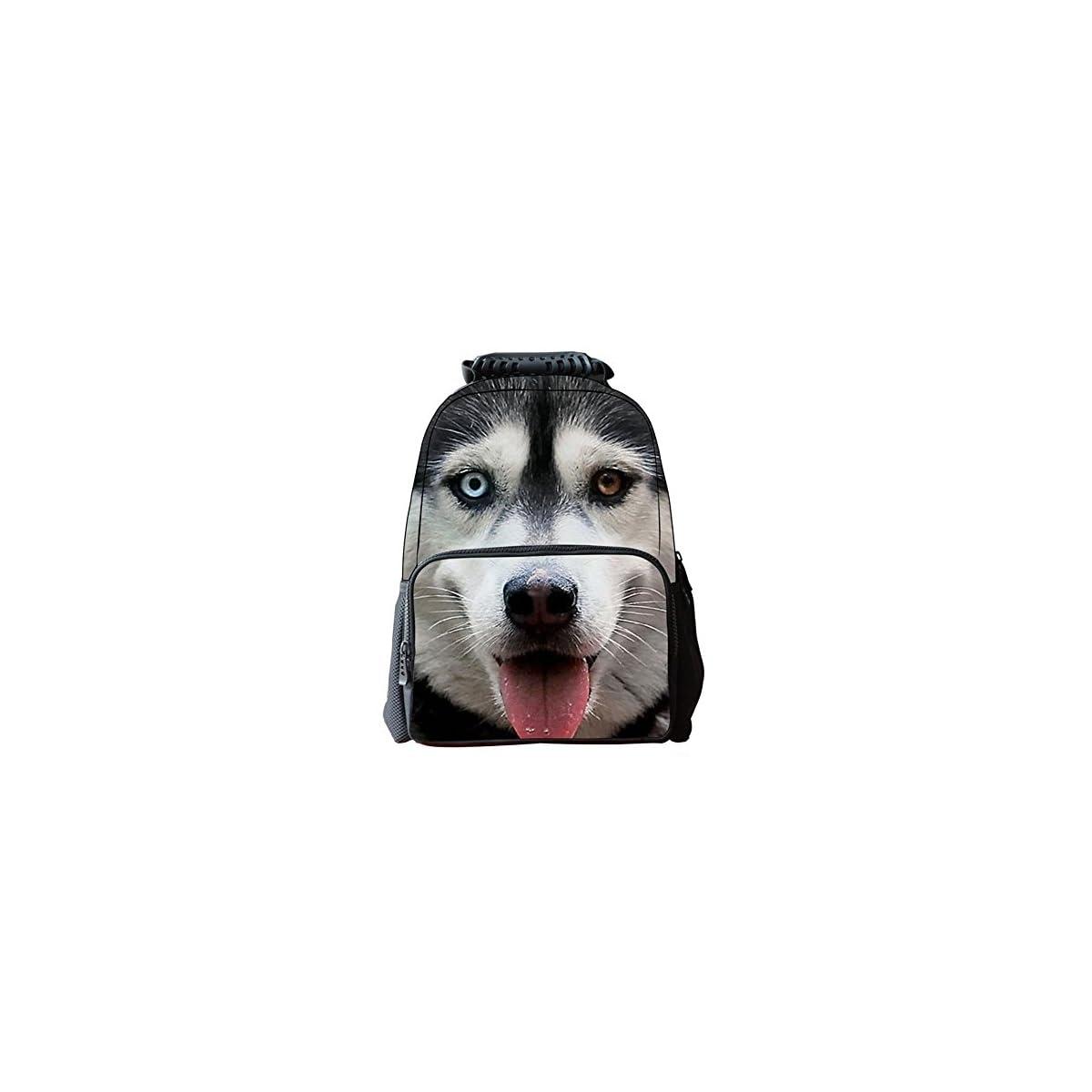 51S5lGHHSEL. SS1200  - Unisexo Bolsas Escolar Animal Print 3D Tela de Fieltro Mochilas de Senderismo