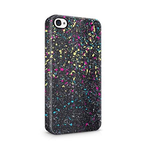 Color Splash Splatter Apple iPhone 5 , iPhone 5S , iPhone SE Snap-On Hard Plastic Protective Shell Case Cover Custodia Color Splash