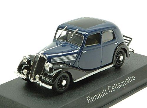 Renault celtaquatre 1936Dark Blue & Black 1: 43–Norev–Auto Oldtimer–Die Cast–Modellbausatz