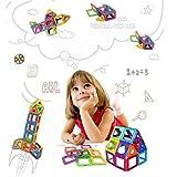 Amaza Mini 3D Bloc Construction Magnétique Jeux Magnette Aimantée Éducatif Enfants Créatif Jouet 66 Pièces (Multicolore)
