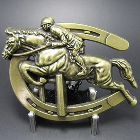 Buckle cavallo con Cavaliere - Jockey -