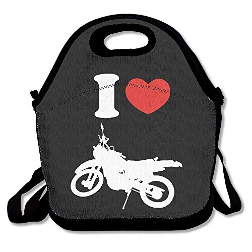 I Heart Love Dirt Bike Logo Lunch Box Bag For Kids And Adult,lunch Tote Lunch Holder With Adjustable Strap For Men Women Boys Girls,This Design For Portable, Oblique Cross,double Shoulder