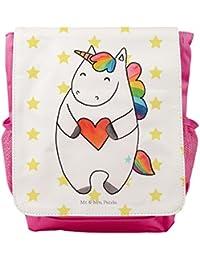Preisvergleich für Mr. & Mrs. Panda Rucksack, Kids, Kinderrucksack Einhorn Herz - Farbe Weiß