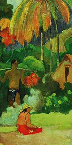 Artland Alte Meister Bild Leinwand Paul Gauguin Bilder 60 x 30 cm Tag der Wahrheit 1892 Kunst Wandbild Klassische Moderne D0SL