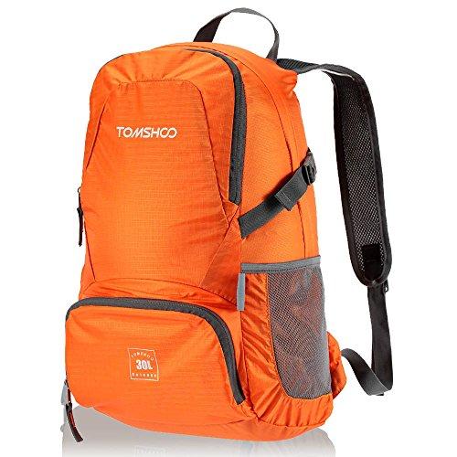 Imagen de tomshoo 30l  bolsa plegable impermeable unisexo ultra ligero de nylon para trekking viajes al aire libre ciclismo
