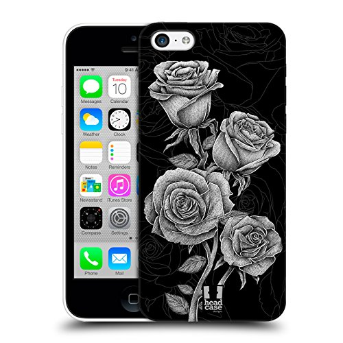 Head Case Designs Roses Fleurs Lithographiques Étui Coque D'Arrière Rigide Pour Apple iPhone 5c