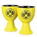 BVB Eierbecher mit Logo, Keramik, Schwarz / Gelb, 3 x 3 x 5 cm, 2-Einheiten