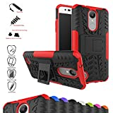 LG K8 2017 / LG K4 2017 / LG Rebel 2 / LG Phoenix 3 / LG Fortune / LG Risio 2 / LG Aristo / LG X300 / LG LV1 Case,Mama Mouth Shockproof Heavy Duty Combo Hybrid Rugged Dual Layer Grip Cover with Kickstand For LG K8 2017 / LG K4 2017 / LG Rebel 2 / LG Phoenix 3 / LG Fortune / LG Risio 2 / LG Aristo / LG X300 / LG LV1(5.0 inch) Smartphone(With 4 in 1 Free Gift Packaged),Red