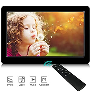 Digital Photo Frame,2019 Newest UI Design YENOCK 8.2 inch 1280 x 720 High Resolution Full IPS Photo/Music/Video Player Calendar Alarm with Remote Control Digital Picture Frame
