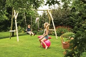 UNIVERSO BOIS - portique bois 2 balançoires en rondins toms park