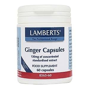 Lamberts, Capsules de gingembre, 60 capsules