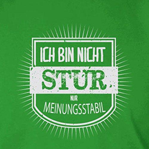 Ich bin nicht stur - Stofftasche / Beutel Braun