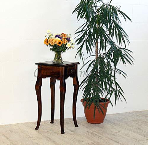 Casa Massivholz Wandtisch nussbaumfarben Telefontisch Dunkelbraun Beistelltisch 80x39 braun