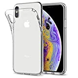 Spigen Coque iPhone XS / Coque iPhone X, [Liquid Crystal] Ultra Fine TPU Silicone [Crystal Clear] Transparent / Adhérence Parfaite / Anti-trace Souple Coque pour Apple iPhone XS et iPhone X