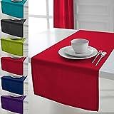 Today 257561 Chemin de table Coton Pomme d'amour/Rouge 50 x 150 cm