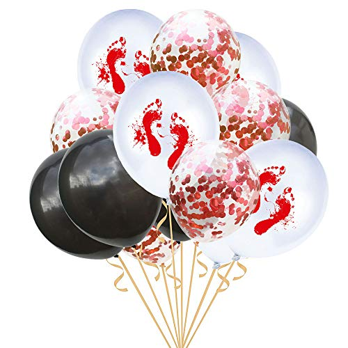 Quaan niedlich kreativ glücklich Halloween Party 15 Stück 12 '' Halloween Konfetti Ballons Skelett Drucken Requisiten Party Dekor Supplie Mauer Ornament Halloween Familie Festival Dekorationen