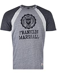 282066eb5f9 T-shirt   col rond coupe large Franklin Marshall Jersey pour homme en gris  clair