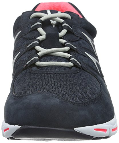 Gabor Damen Comfort Sneakers Blau (46 Night Blue pink)
