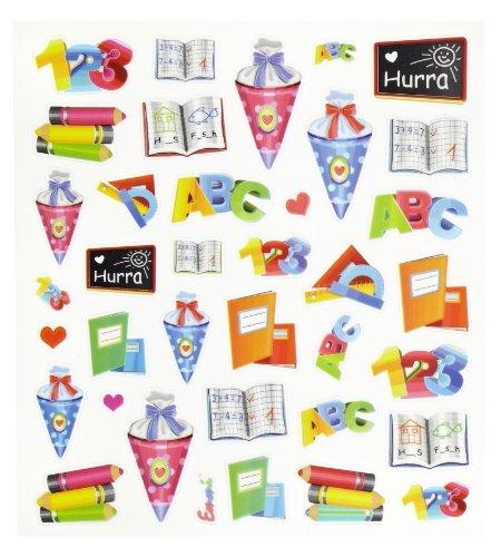 36 tlg. Set Sticker / Aufkleber - Schulanfang Schultüte Ranzen ABC Hefte (Ein Wie Dekorieren)