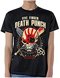 Five Finger Death Punch T Shirt Got Your Six Zombie Kill Band Logo Official Mens