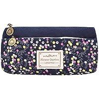 Ogquaton Lápiz duradero, estuche para bolígrafos, con doble cremallera, bolso monedero para viajes escolares, uso diario 1PCS azul marino