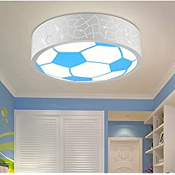 BRIGHTLLT Habitación niños LED Lámpara Luz de techo para niños y niñas y acogedoras habitaciones cartoon encantador Fútbol Baloncesto niños creativos Lámparas de 400mm.