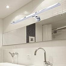 CroLED LED Spiegelleuchte Badlampe 8W Beleuchtung Spiegelschrank Bad Spiegellampe Wandleuchte 50cm AC190-240V Warmweiß