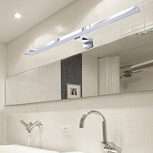 CroLED Lámpara de pared Espejo para Baño Aplique de Baño 50CM 48LED 2835 SMD 6500K 600LM Luz Blanco 8W