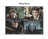 Stampbank Harry Potter film 2014 feuille de timbres pour les collectionneurs avec Harry, Ron et Lord Voldemort - 4 timbres/Mali