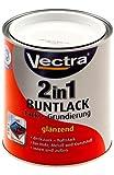Vectra 2938 2in1 Buntlack Lack + Grundierung Reinweiß Glänzend 375ml (WB5)
