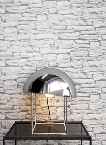 Steintapete In Weiß | Schöne Edle Tapete Im Steinmauer Design | Moderne 3D  Optik Für Wohnzimmer, Schlafzimmer Oder Küche Inklusive Der ...