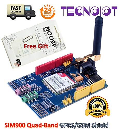 SIM900 GPRS/gsm Shield Development Board Quad-Band Module with Antenna + gift | SIM900 GPRS / gsm Shield Scheda di sviluppo Modulo quad-band con antenna + regalo