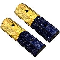 PrimeMatik - Tope de Suelo para Ruedas de Parking Aparcamiento de Goma 50 cm 2-Pack